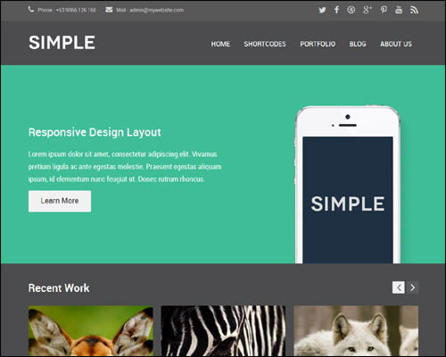 Simple-Dark-Free-Responsive-Flat-WordPress-Theme