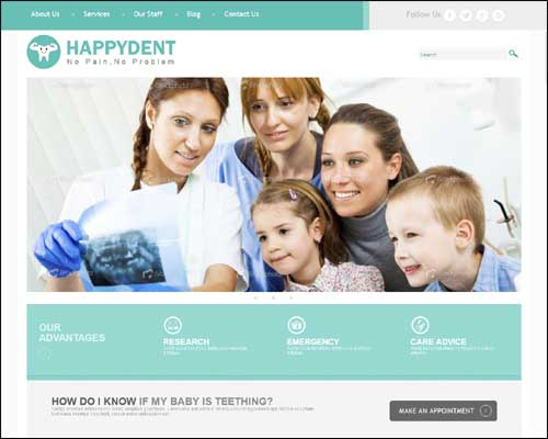 free-responsive-wordpress-theme-dental-hospital-green-blue-purple-colors