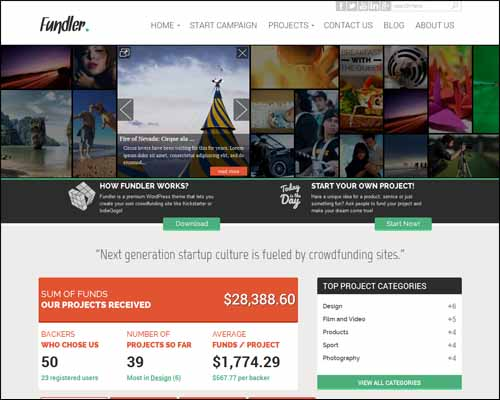 fundler-free-crowdfunding-wordpress-theme