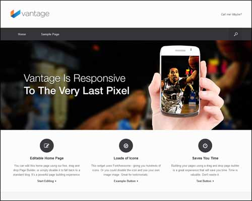 vantage-free-wordpress-theme