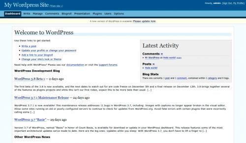 как появился WordPress